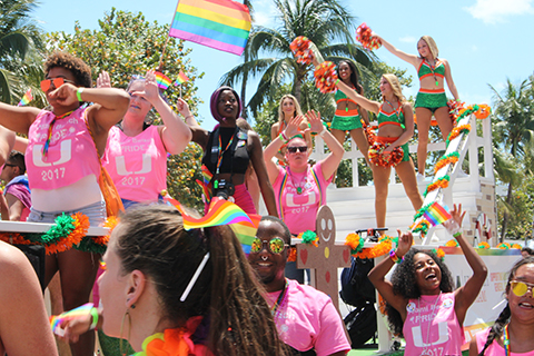 students at Miami Pride Parade