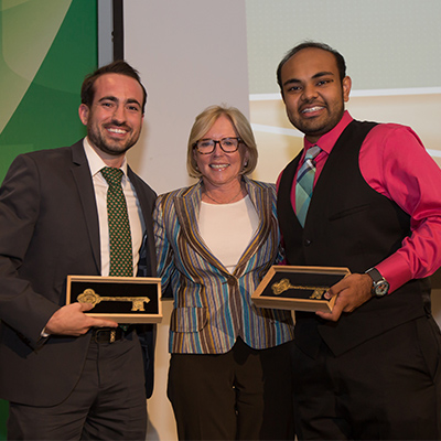 "Brandon Gross receives ""key to Coral Gables"""