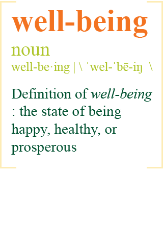 Definition of well-being